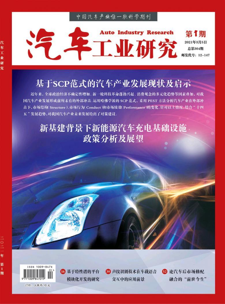 汽车工业研究杂志
