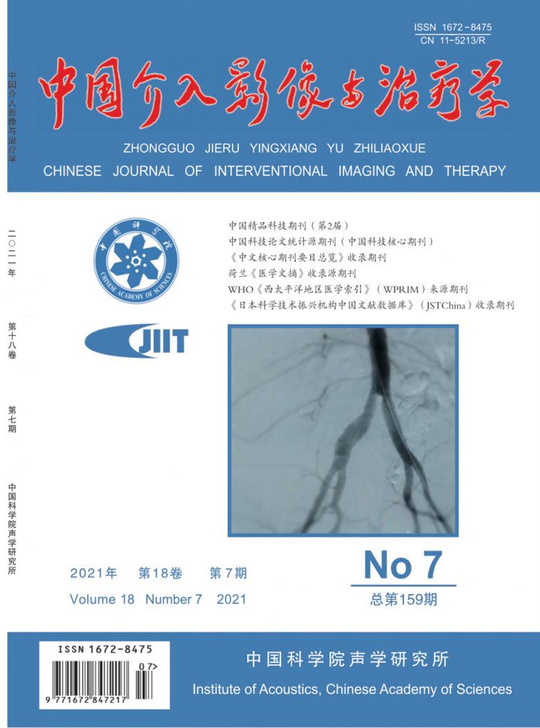 中国介入影像与治疗学杂志